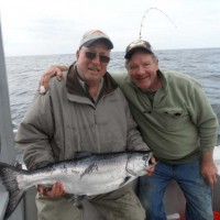 Dan Wiebold with Guide Larry