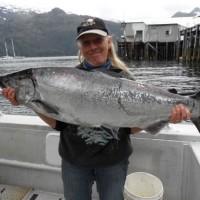 Lady Vicky Wassberg winner  2015 King Salmon Derby