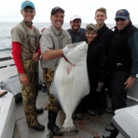SK Group with a big halibut